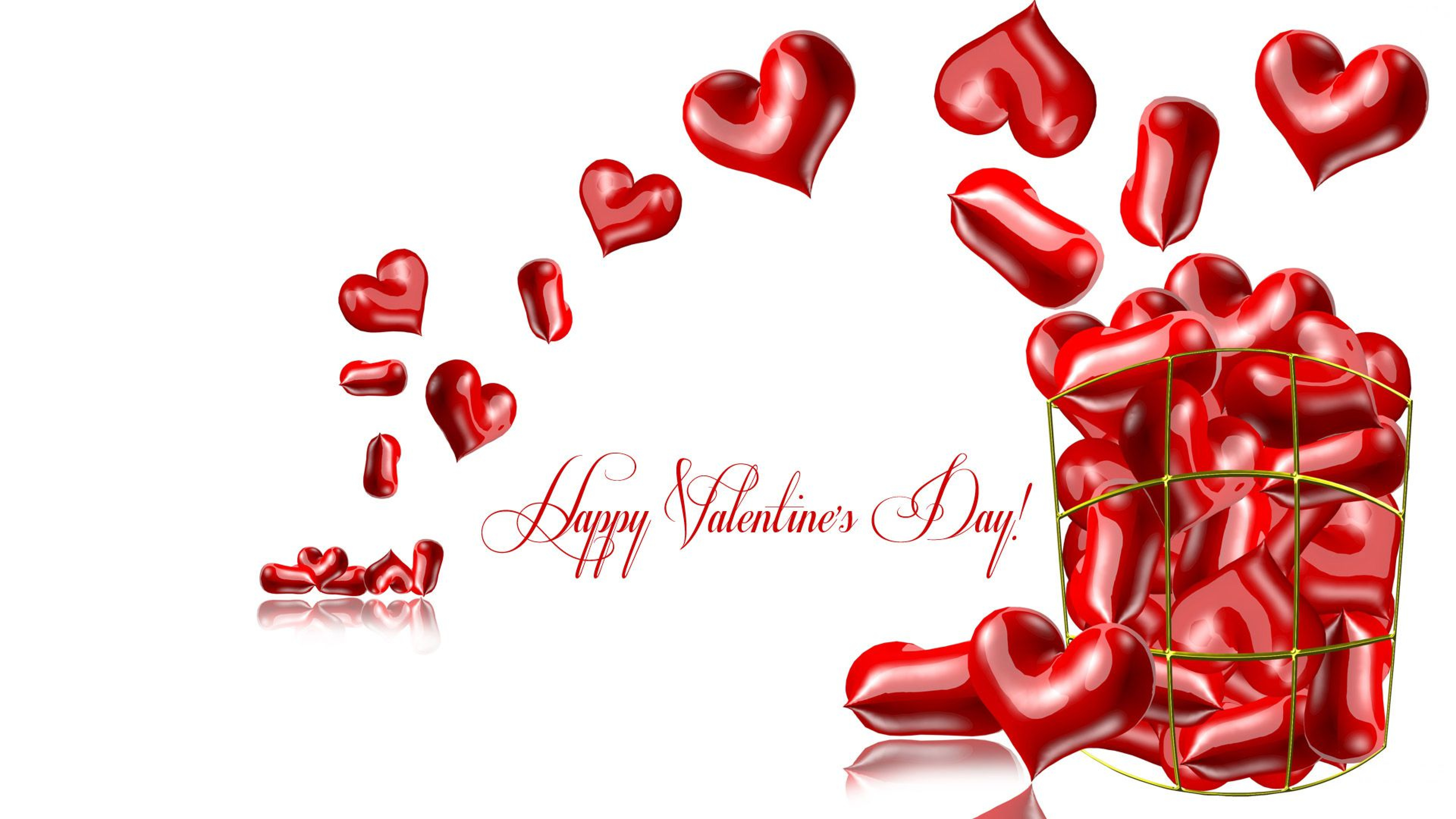 happy valentines day collection of hearts 3d graphic image hd wallpaper