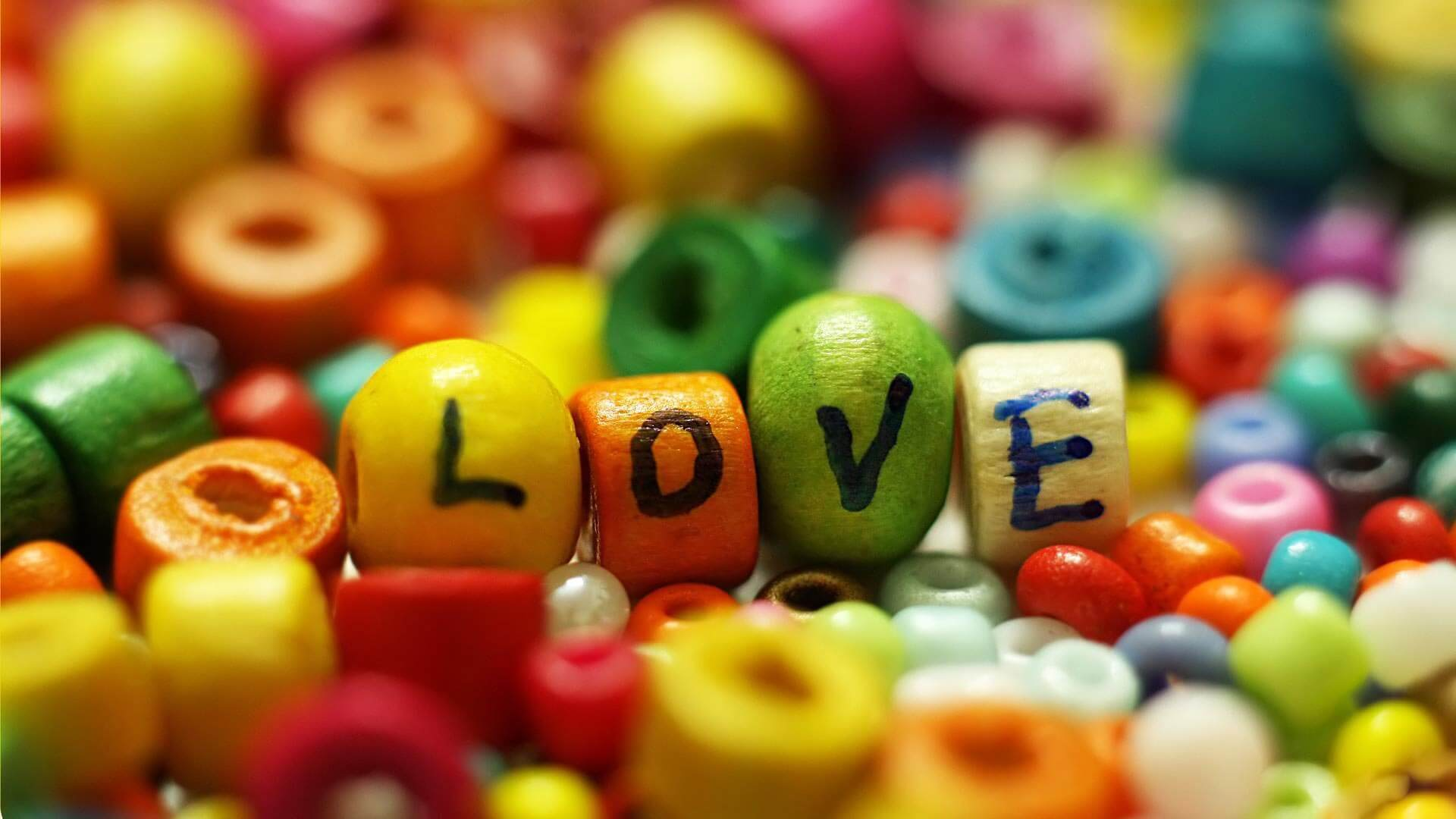 happy valentines day colorful beads photos picture image wishes hd wallpaper