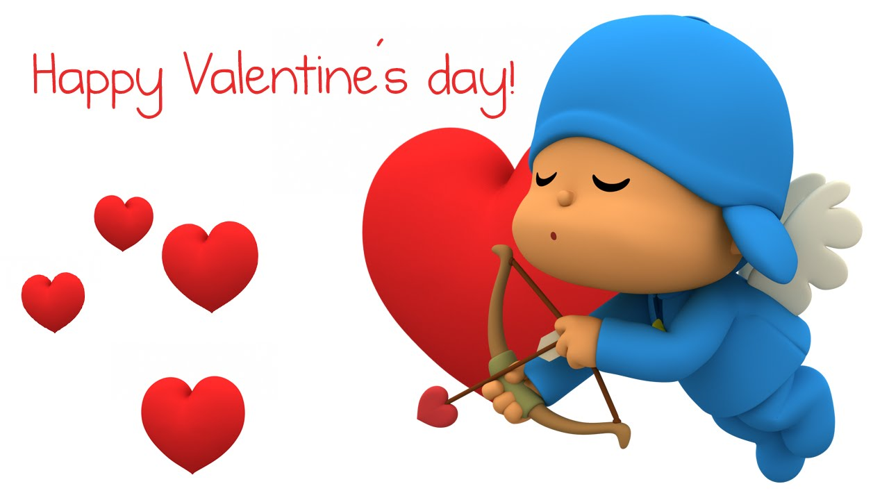 happy valentines day hearts cupid bow arrow animated graphic hd wallpaper
