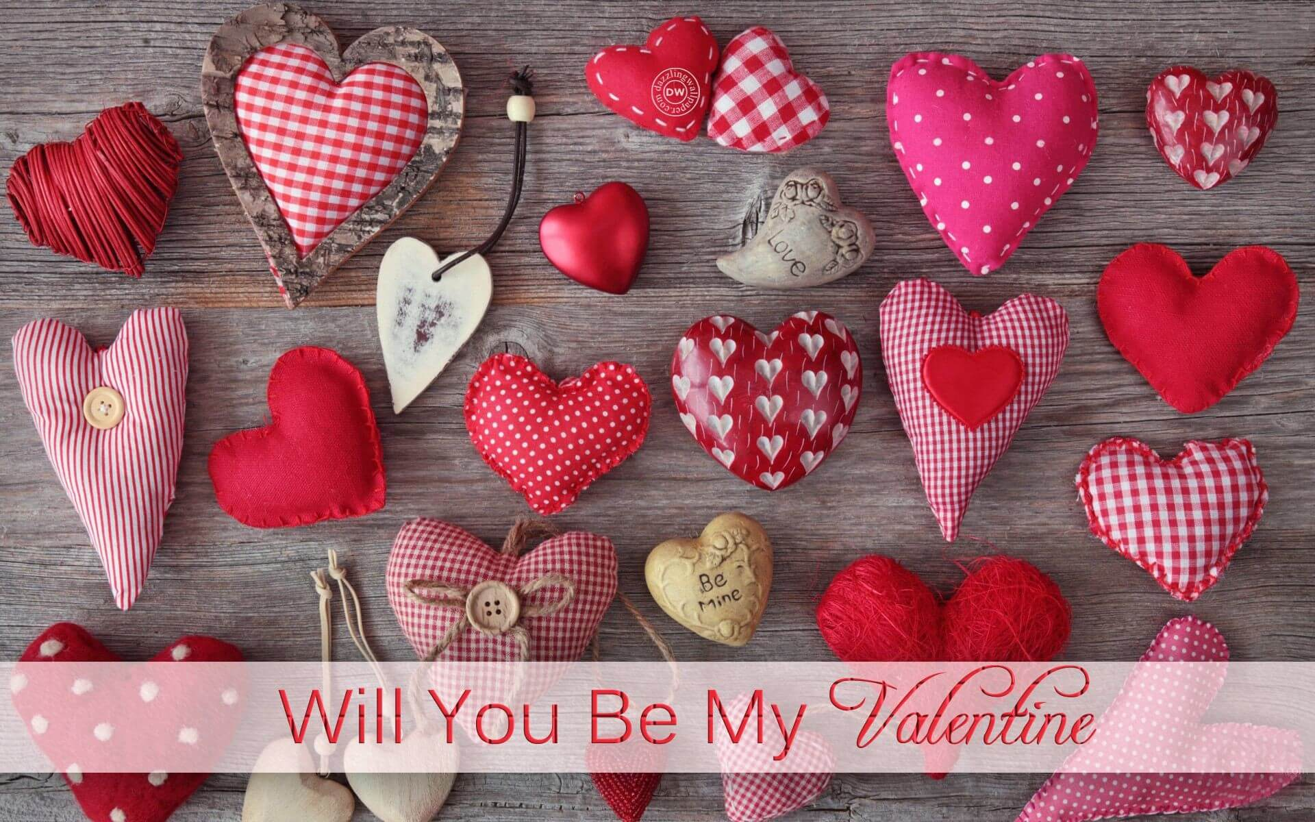 happy valentines day hearts will you be my valentine hd wallpaper