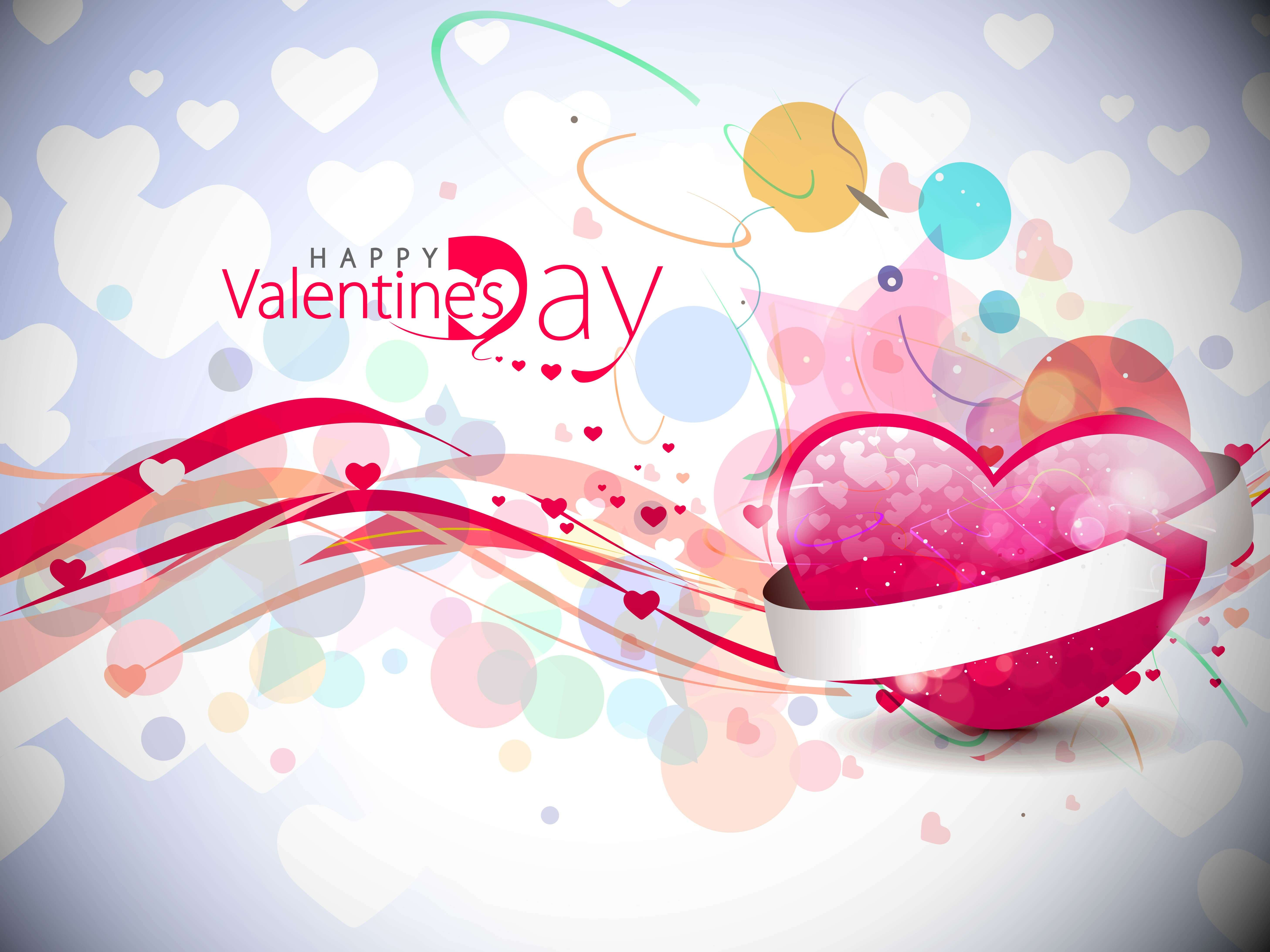 happy valentines day modern hearts latest image wishes hd wallpaper