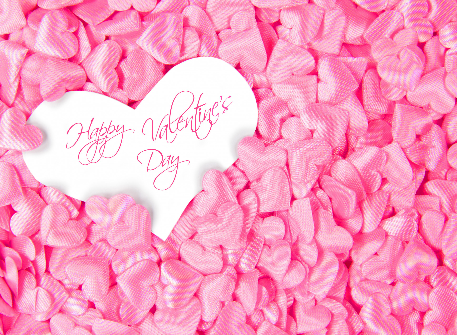 happy valentines day text pink hearts collection graphic cute hd wallpaper
