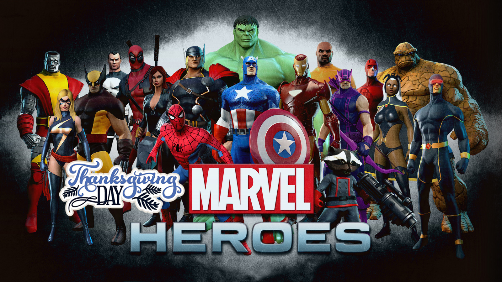 marvel heroes wishing you happy thanksgiving day hd wallpaper