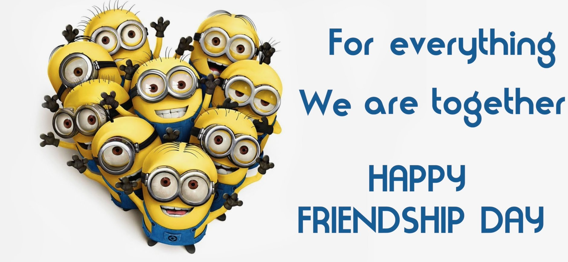 minions happy friendship day hd wallpaper