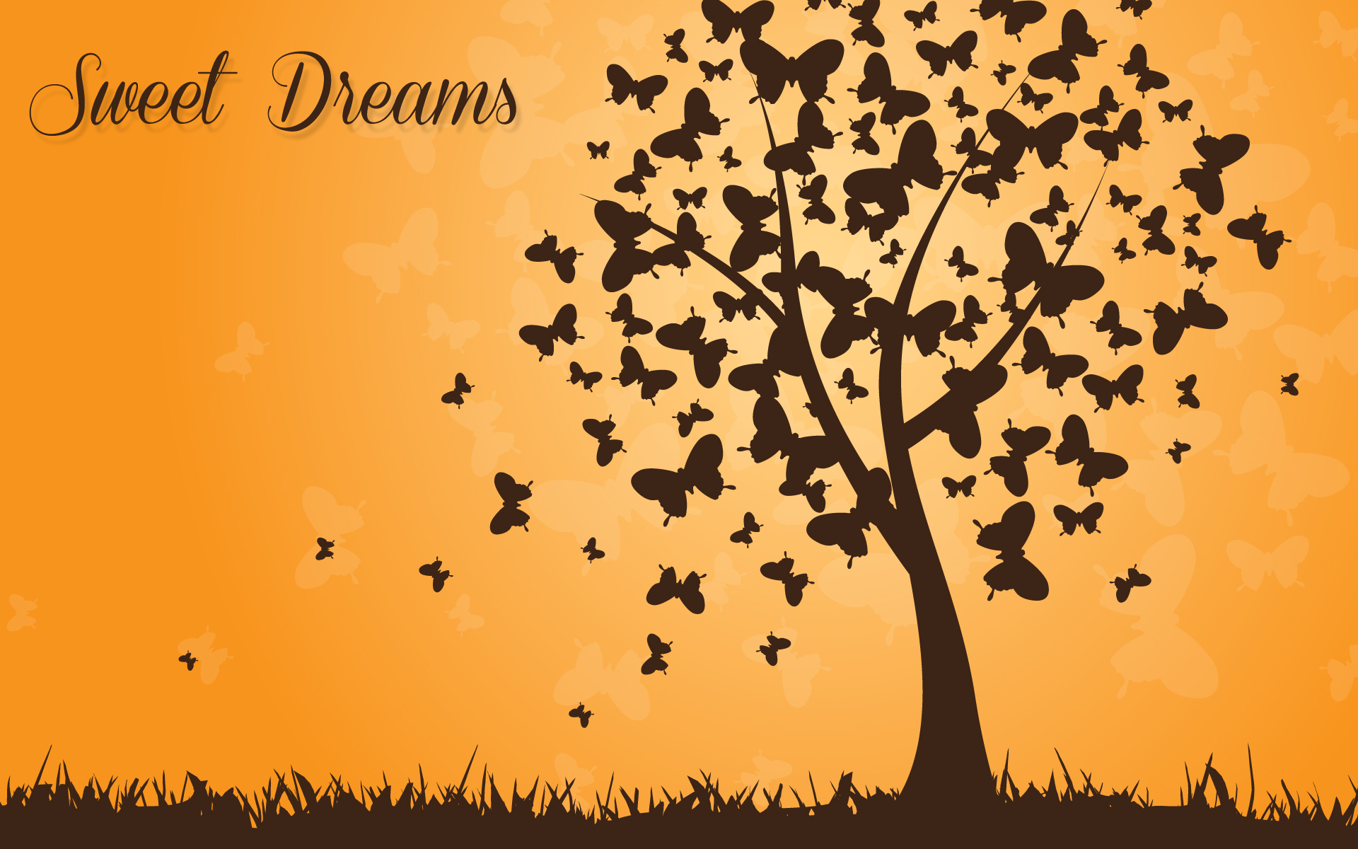 sweet dreams good night background hd wallpaper