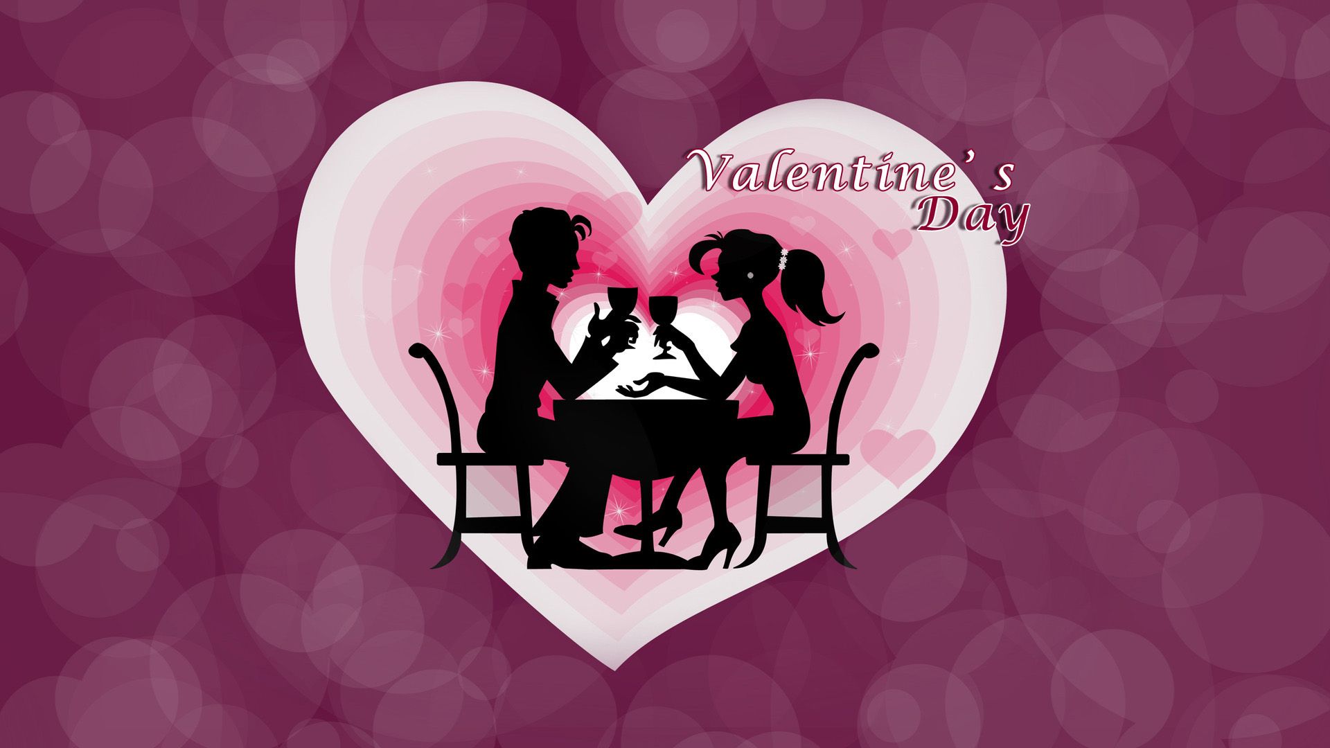 cute couple celebrating valentine day hd wallpaper