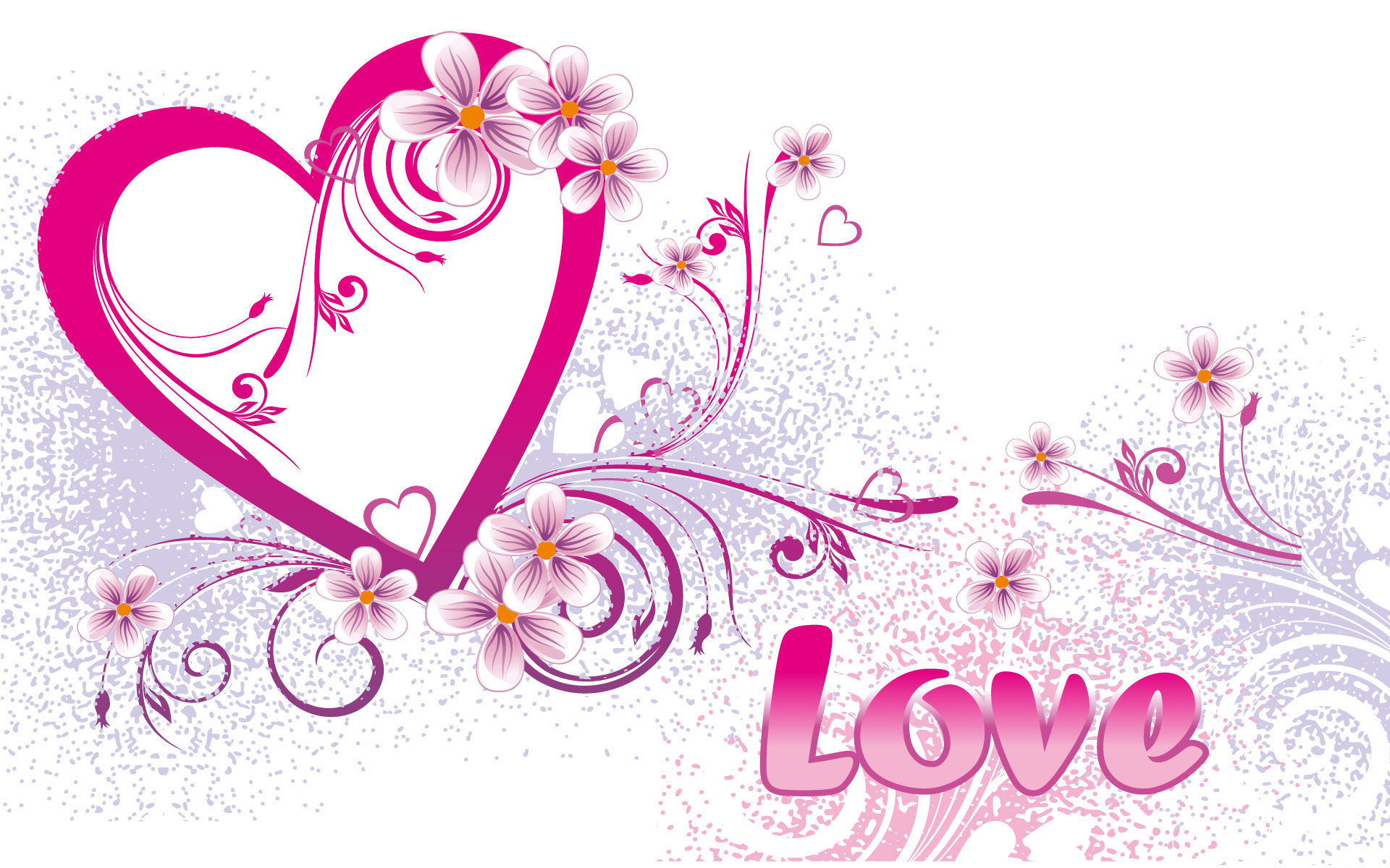 happy valentines day flowers hearts special hd wallpaper