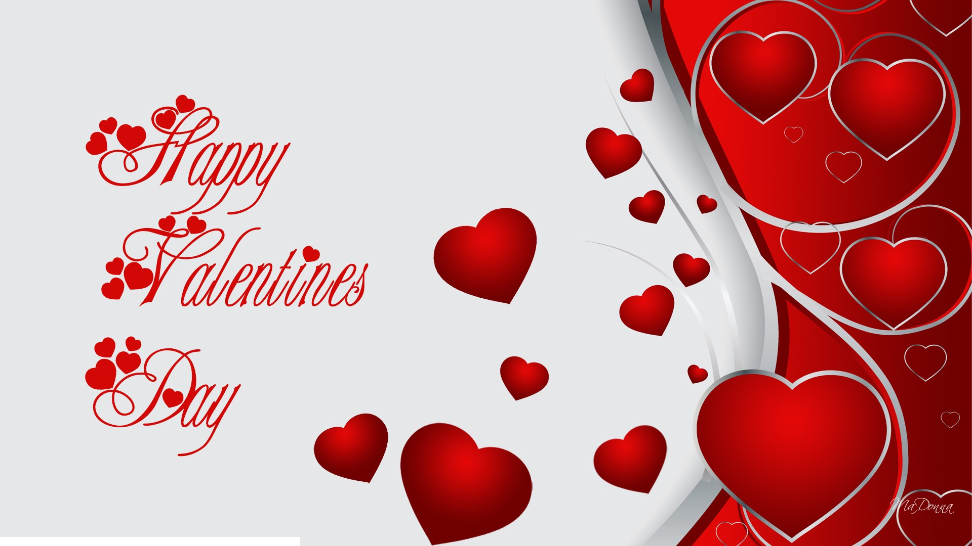 happy valentines day hd hearts free wallpaper 2016