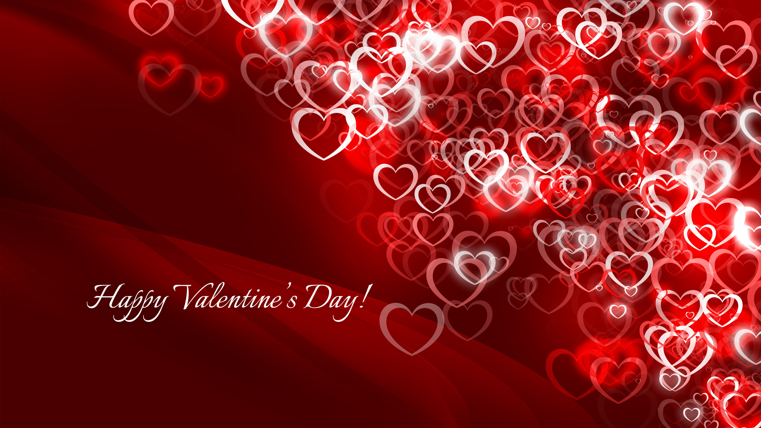 happy valentines day hearts hd wallpaper free dekstop