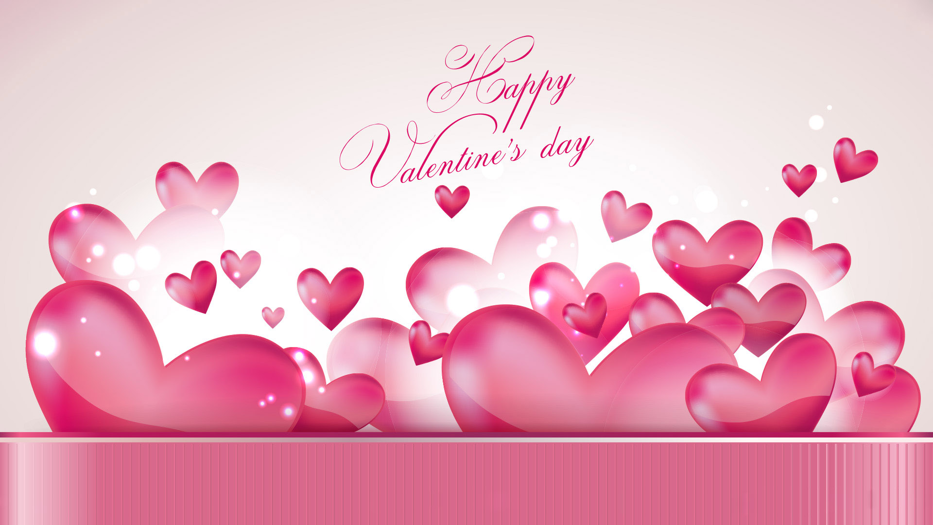 happy valentines day hearts wallpaper image hd