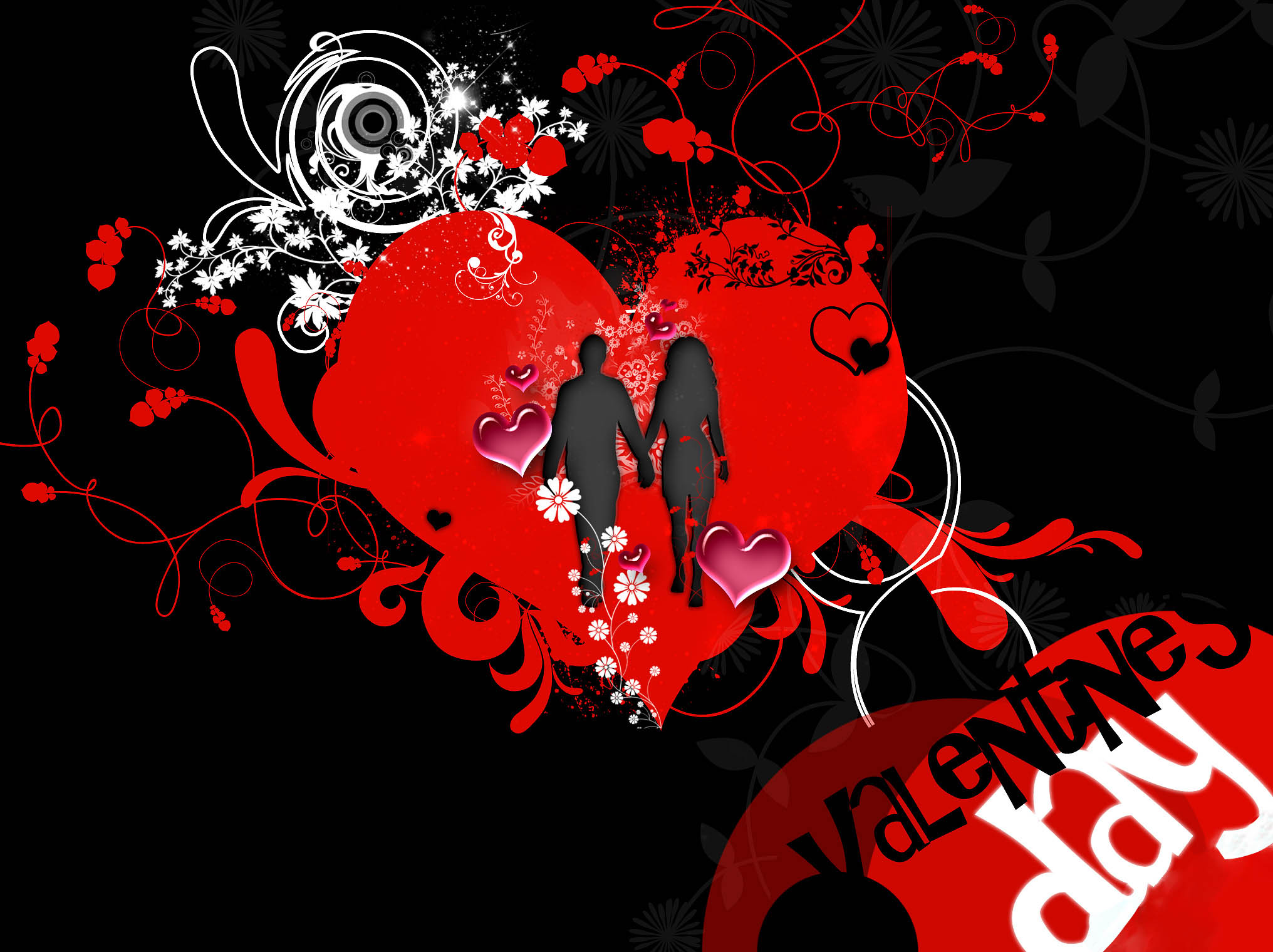 happy valentines day love coulpes modern hd wallpaper
