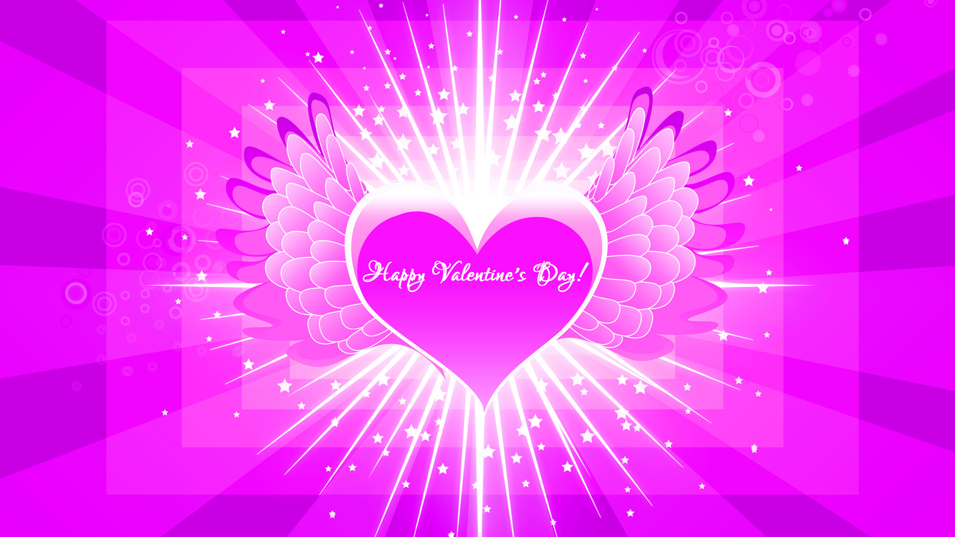 happy valentines day love flying heart hd wallpaper