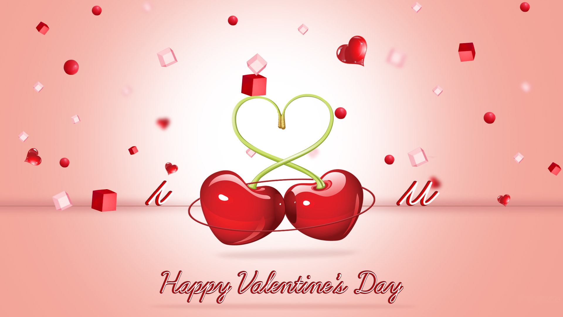 Happy Valentines Day Love 3d Heart Zoo Zoo Hd Wallpaper