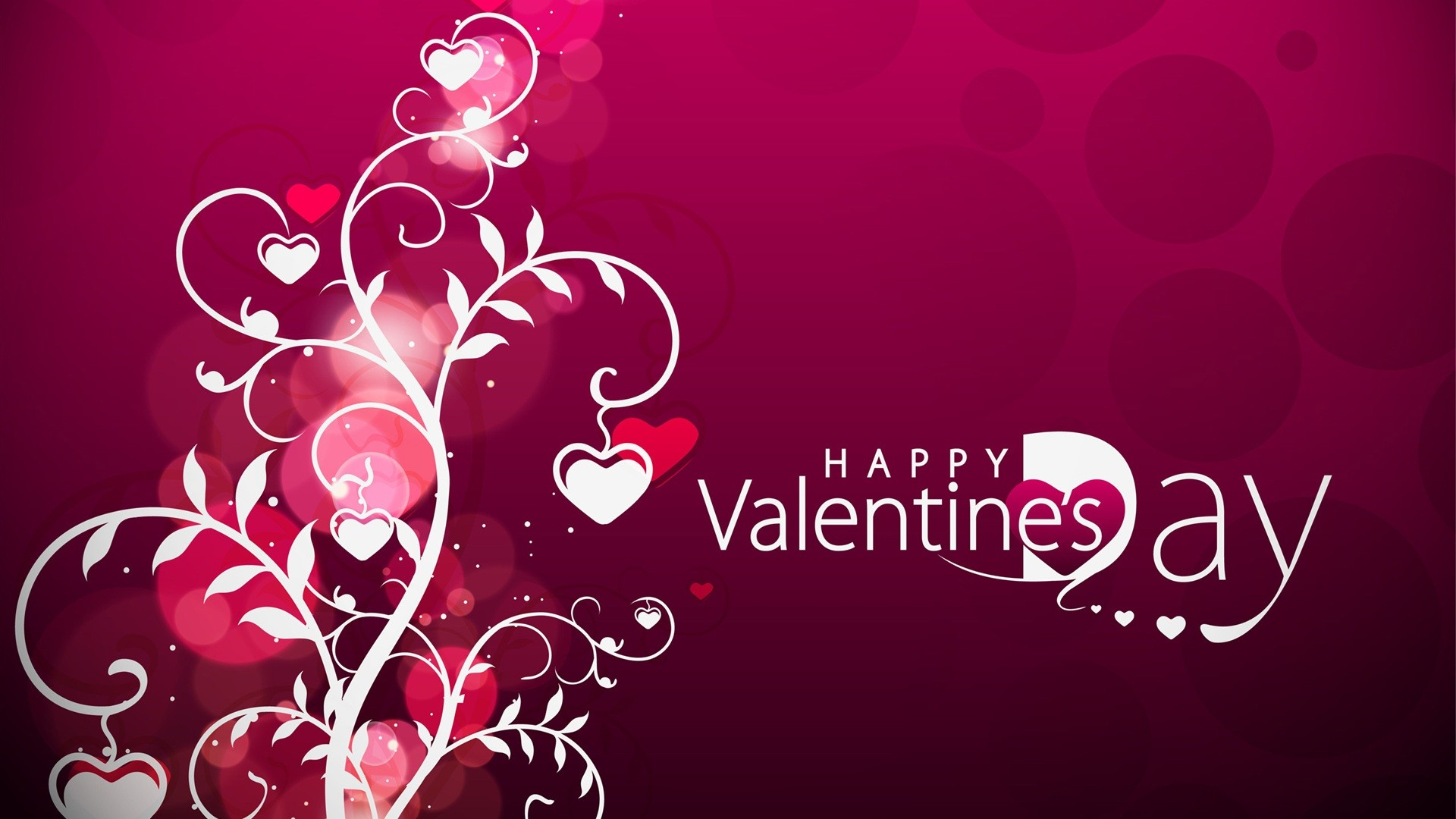 happy valentines day love hanging hearts hd wallpaper