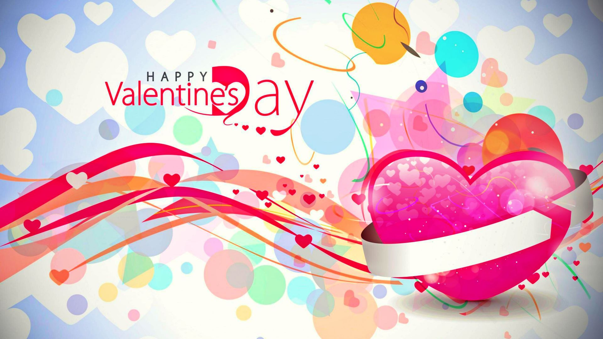 happy valentines day love hearts awesome new hd wallpaper