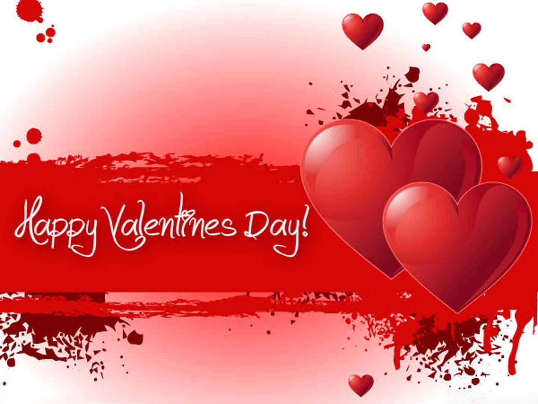 happy valentines day love hearts cute hd wallpaper