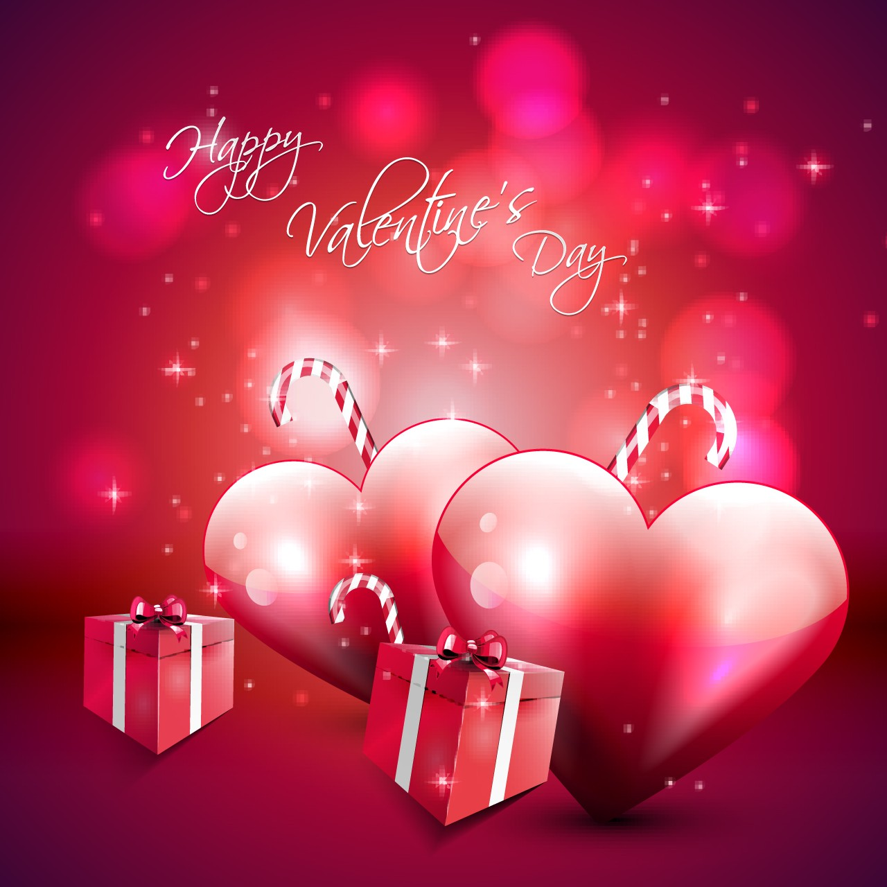 happy valentines day love hearts gifts pc hd wallpaper