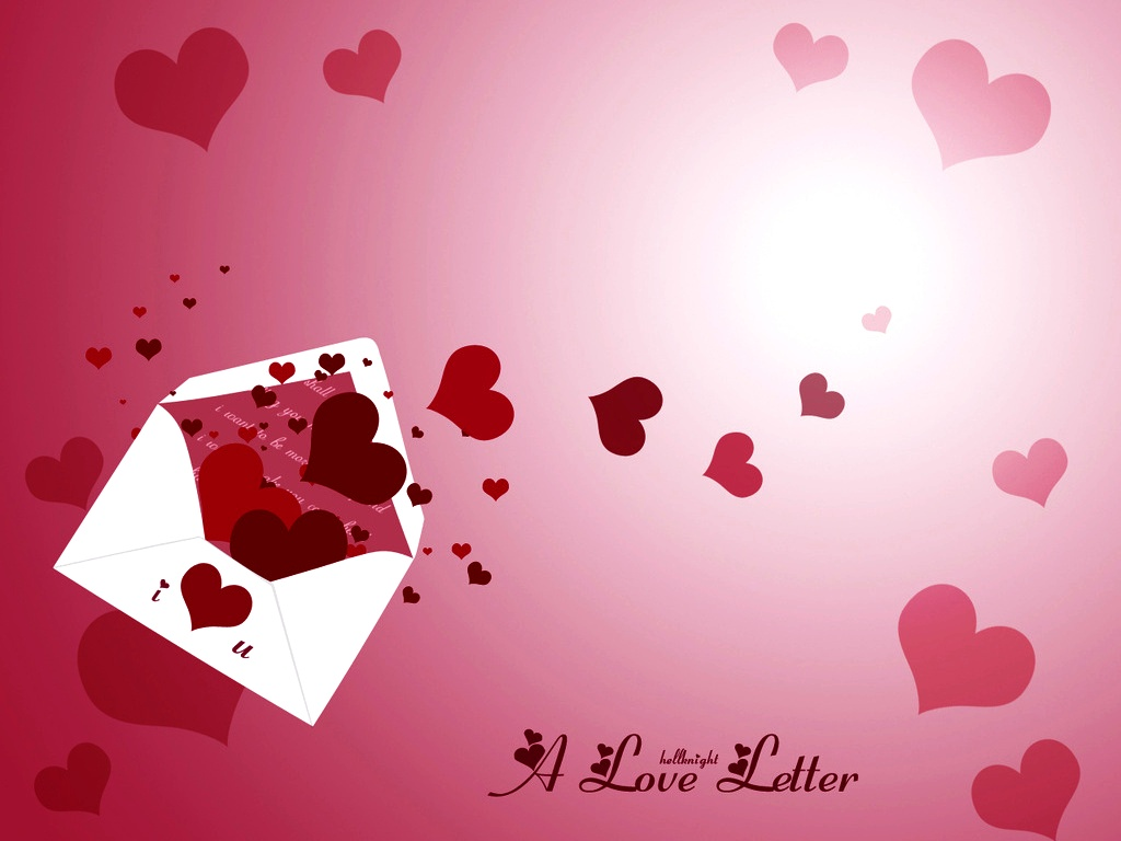 happy valentines day love letter hearts hd wallpaper