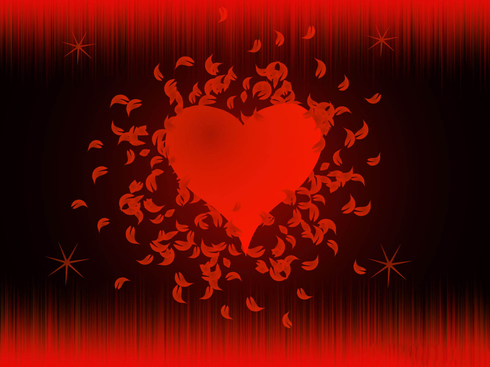 happy valentines day love modern feather red heart hd wallpaper