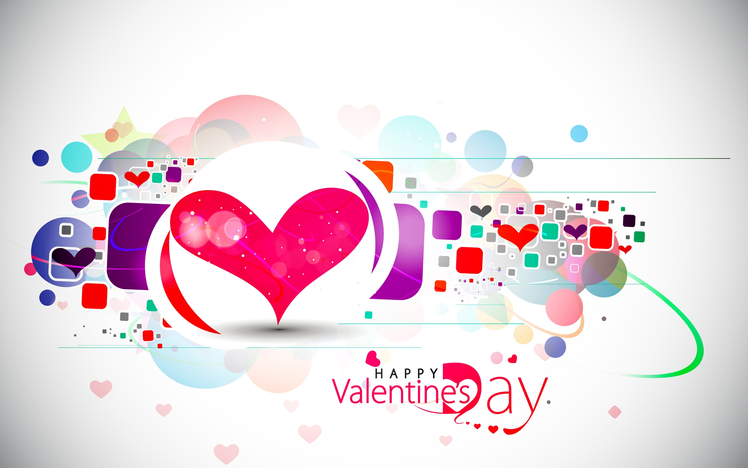 happy valentines day love modern hearts hd wallpaper