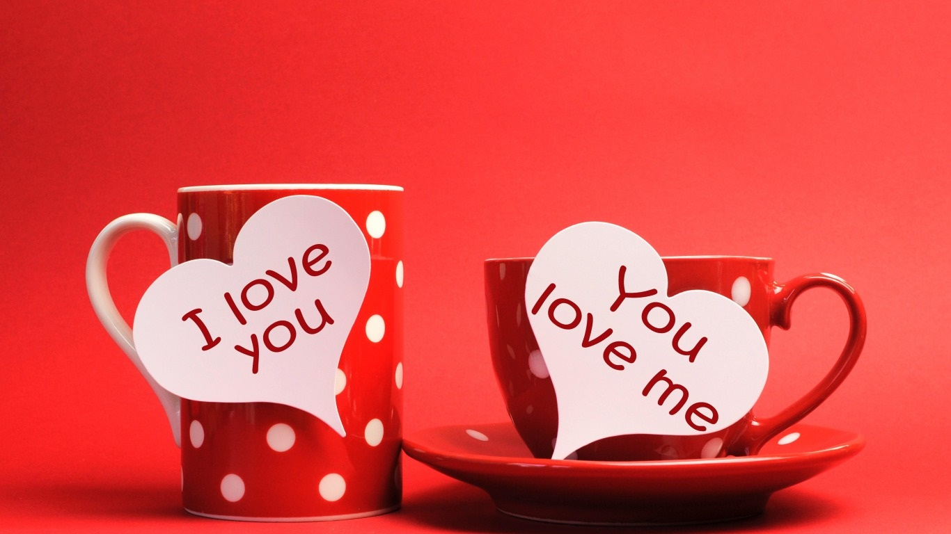 Happy Valentines Day Love Quotes In Mug Hd Wallpaper