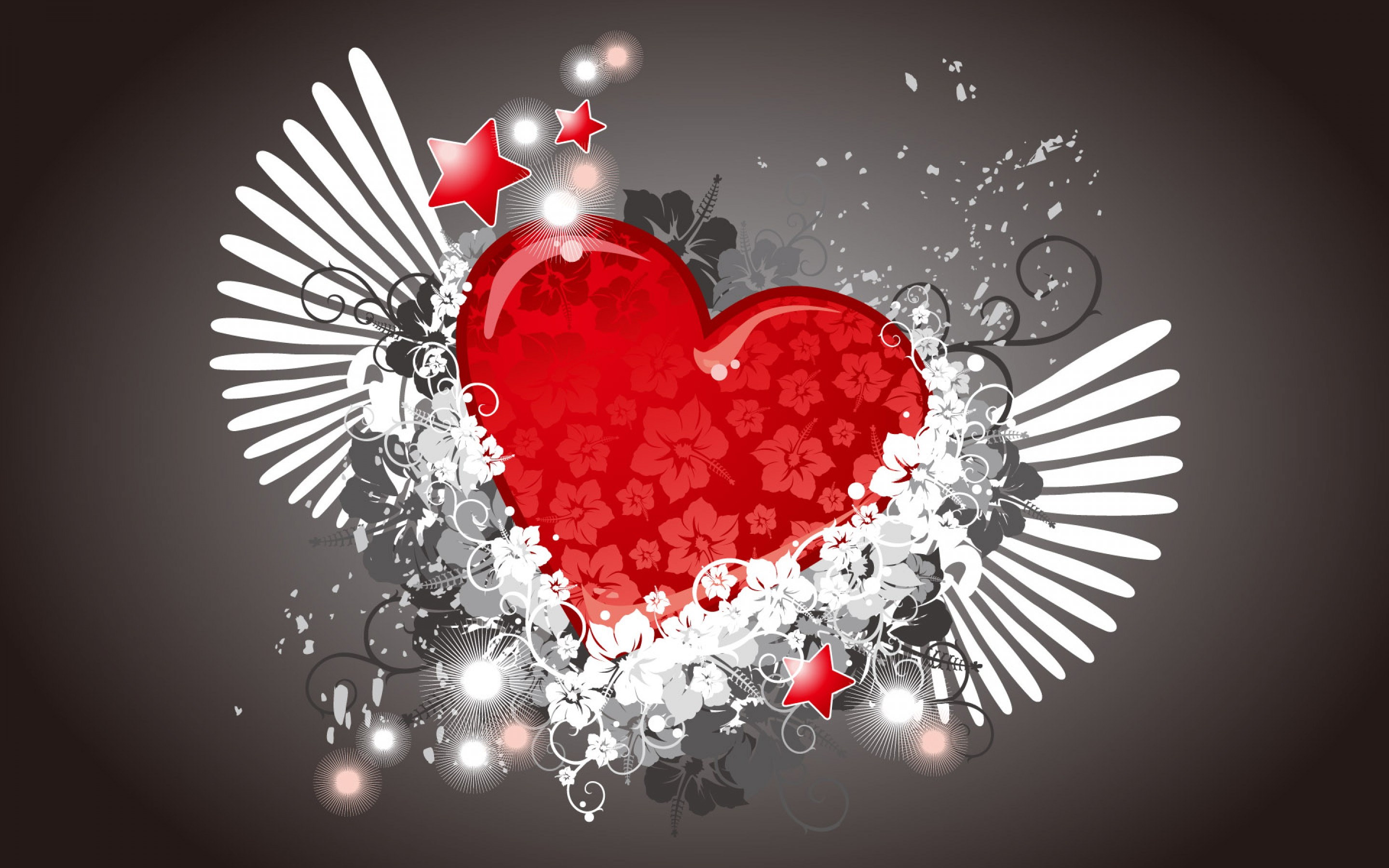 happy valentines day modern 3d love heart hd wallpaper