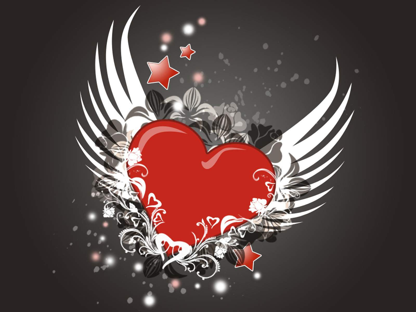 happy valentines day modern graphics 3d love flying heart hd wallpaper
