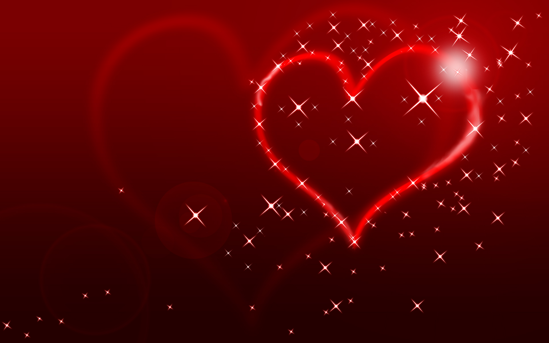 heart valentines day stars wallpaper free hd