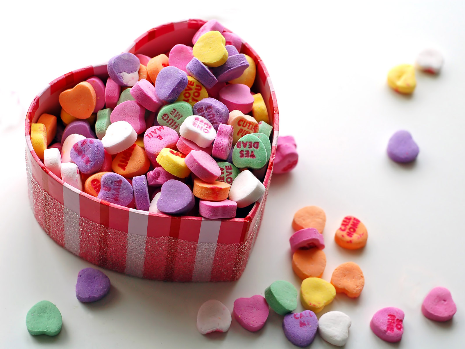 valentines day candy heart hd wallpaper