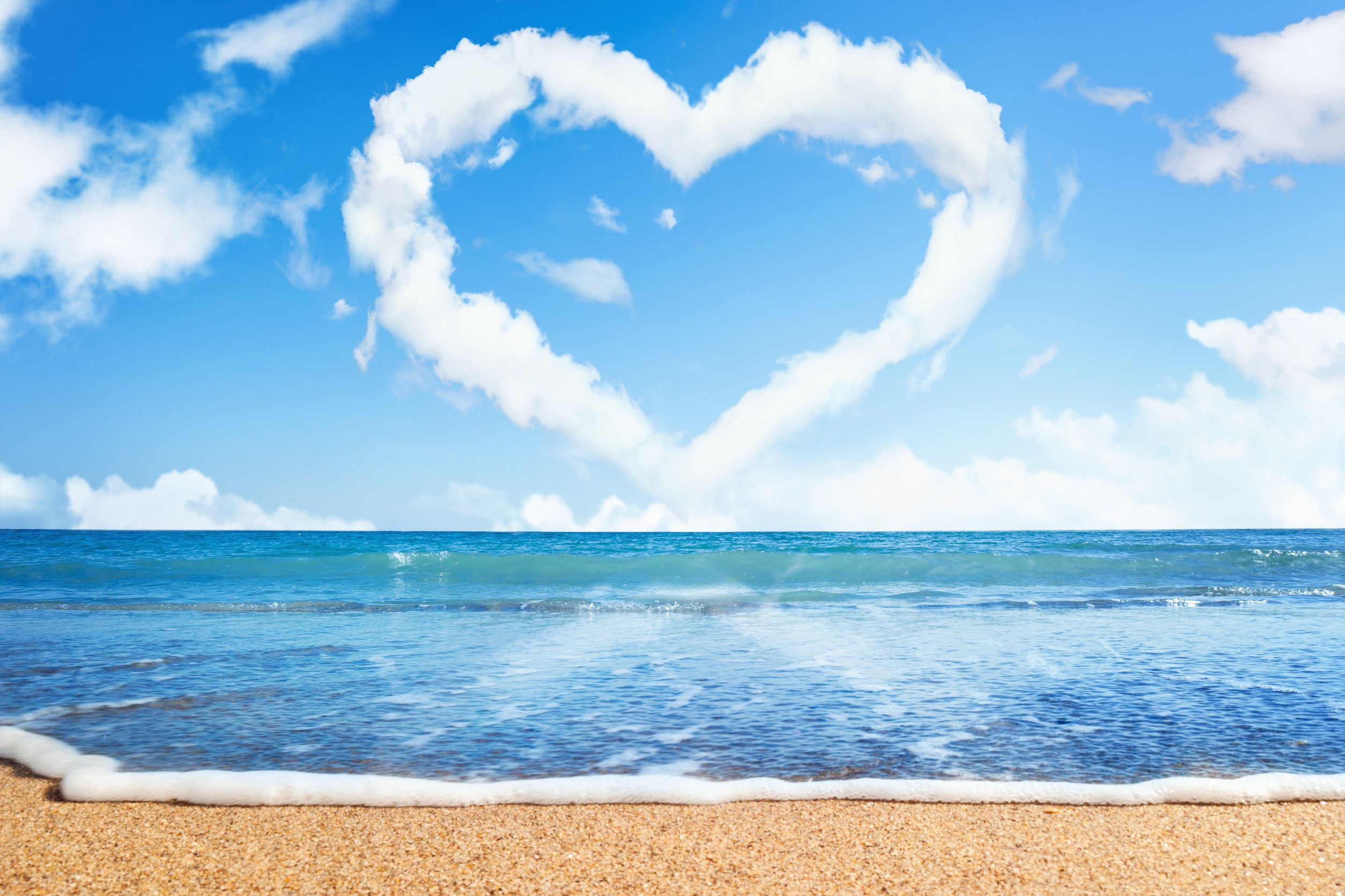 valentines day cruise heart cloud beach wallpaper