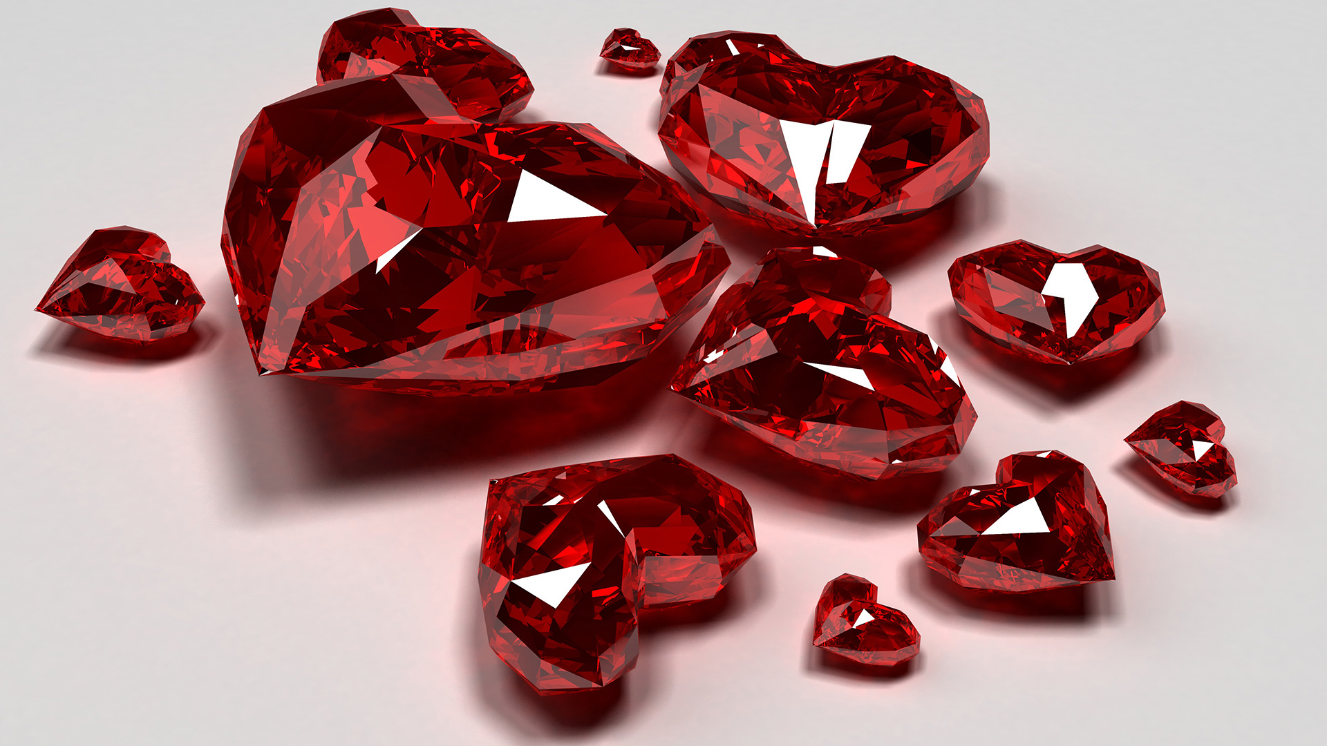 valentines day crystal heart free hd wallpaper