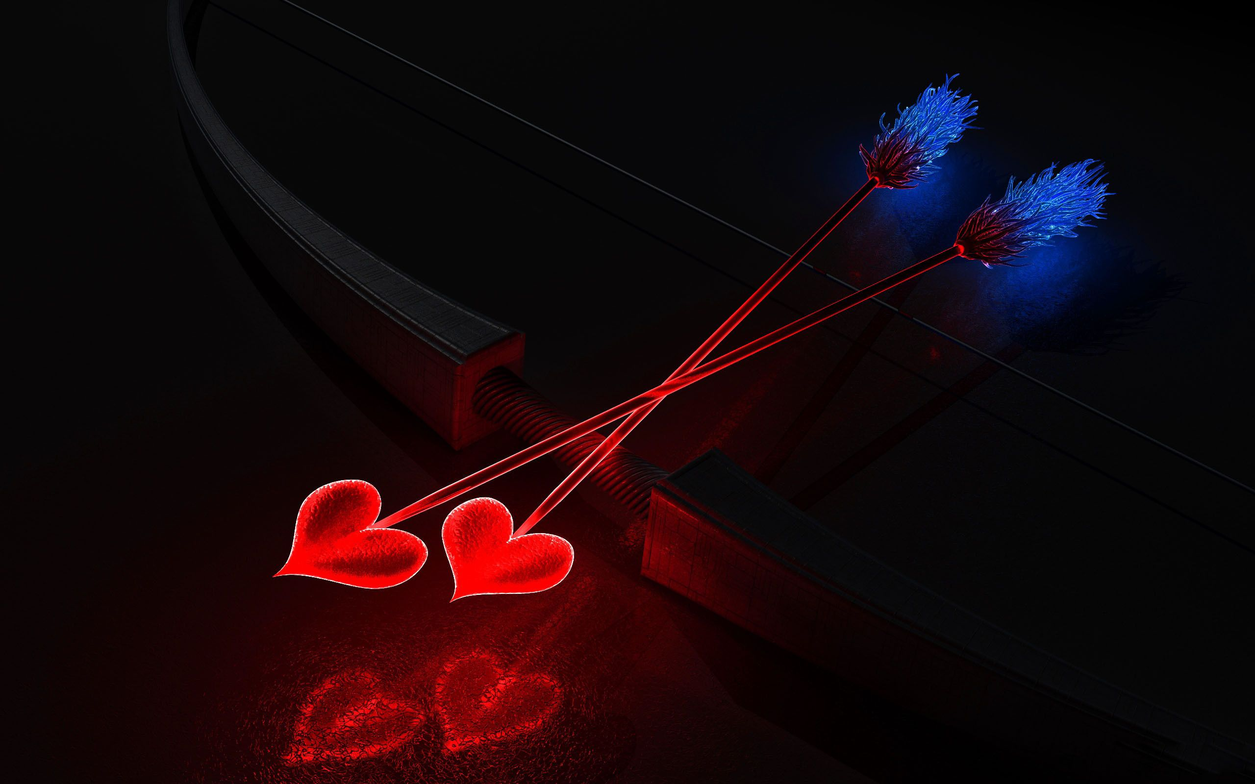valentines day cupid arrow hd wallpaper