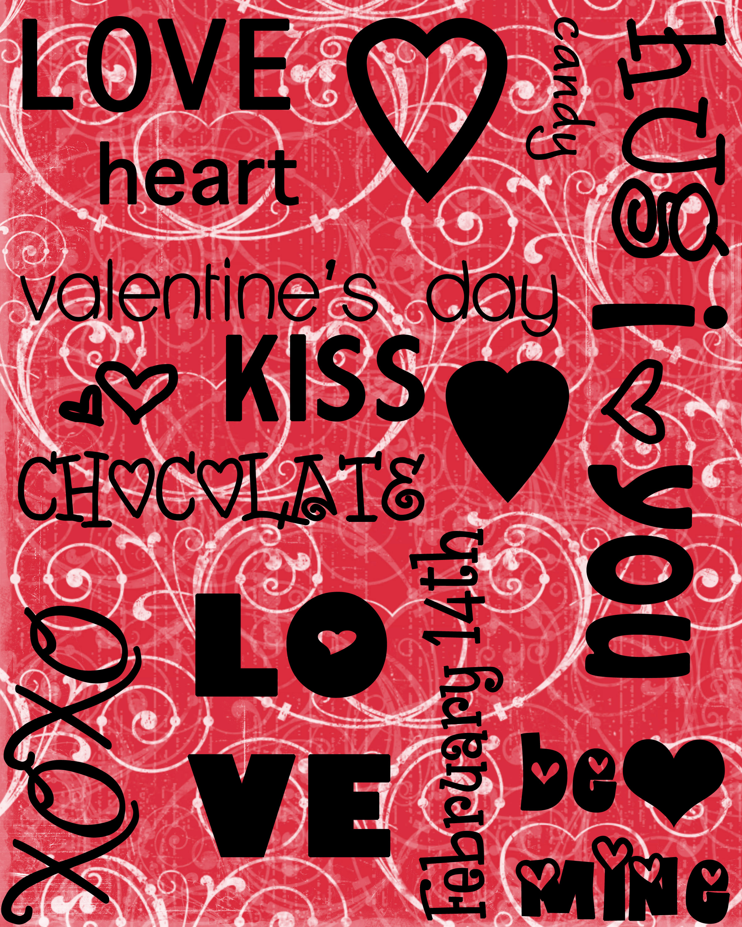 valentines day quotes theme hd desktop background