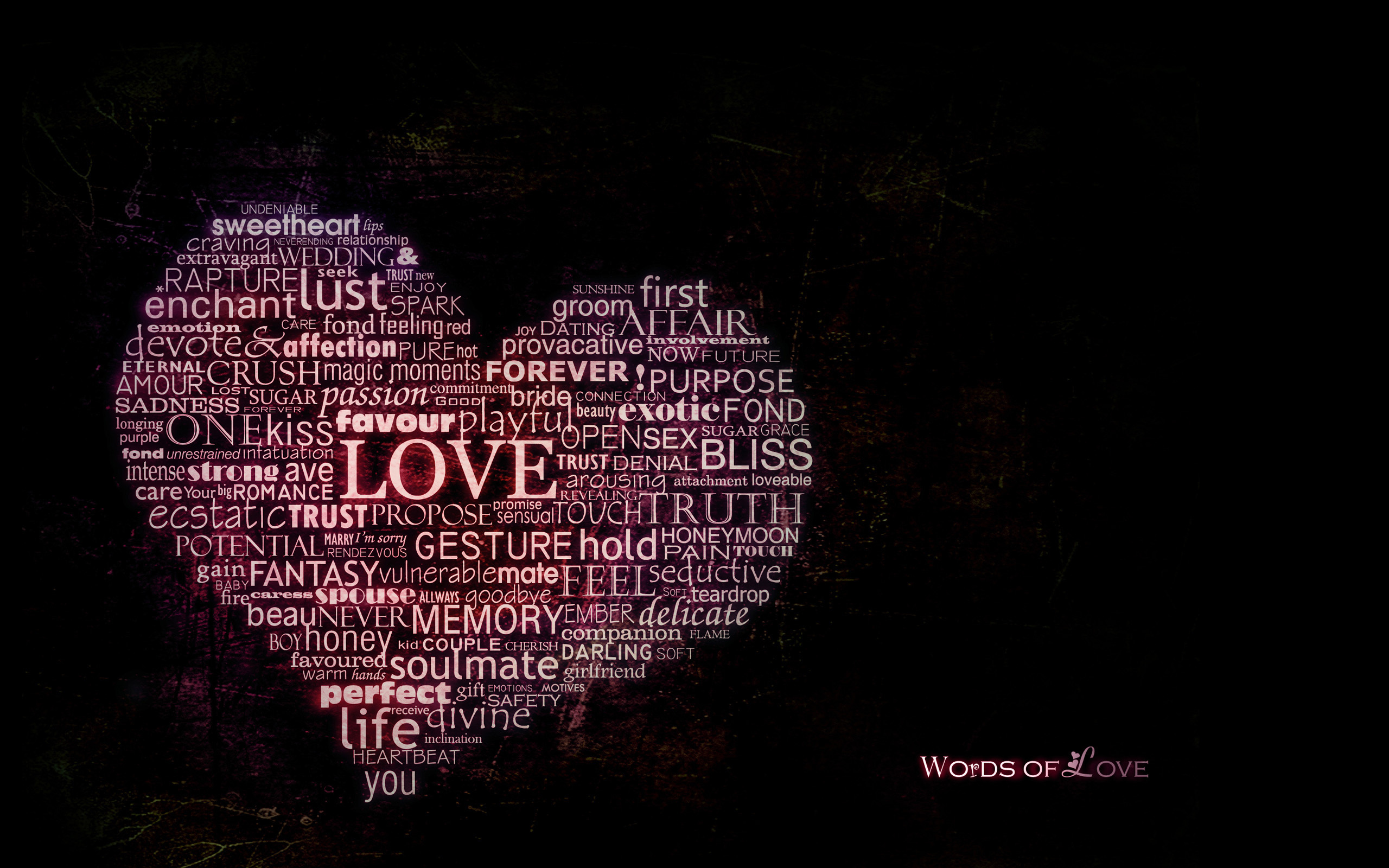 Valentines Day Words Of Love Free Hd Wallpaper