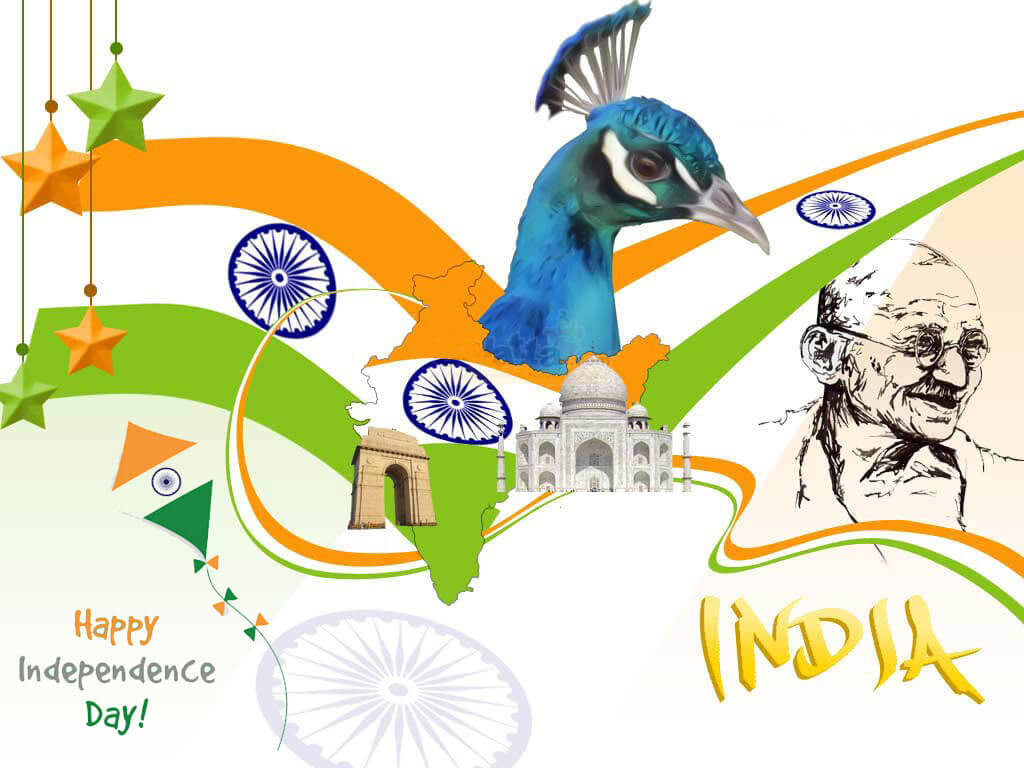 15th August India Independence Day Peacock India Gate Image