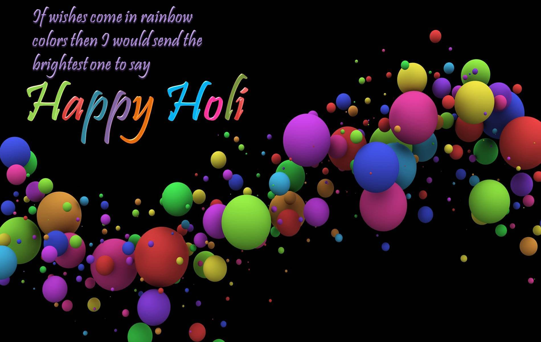 3d Happy Holi Wishes Wallpaper Greeting