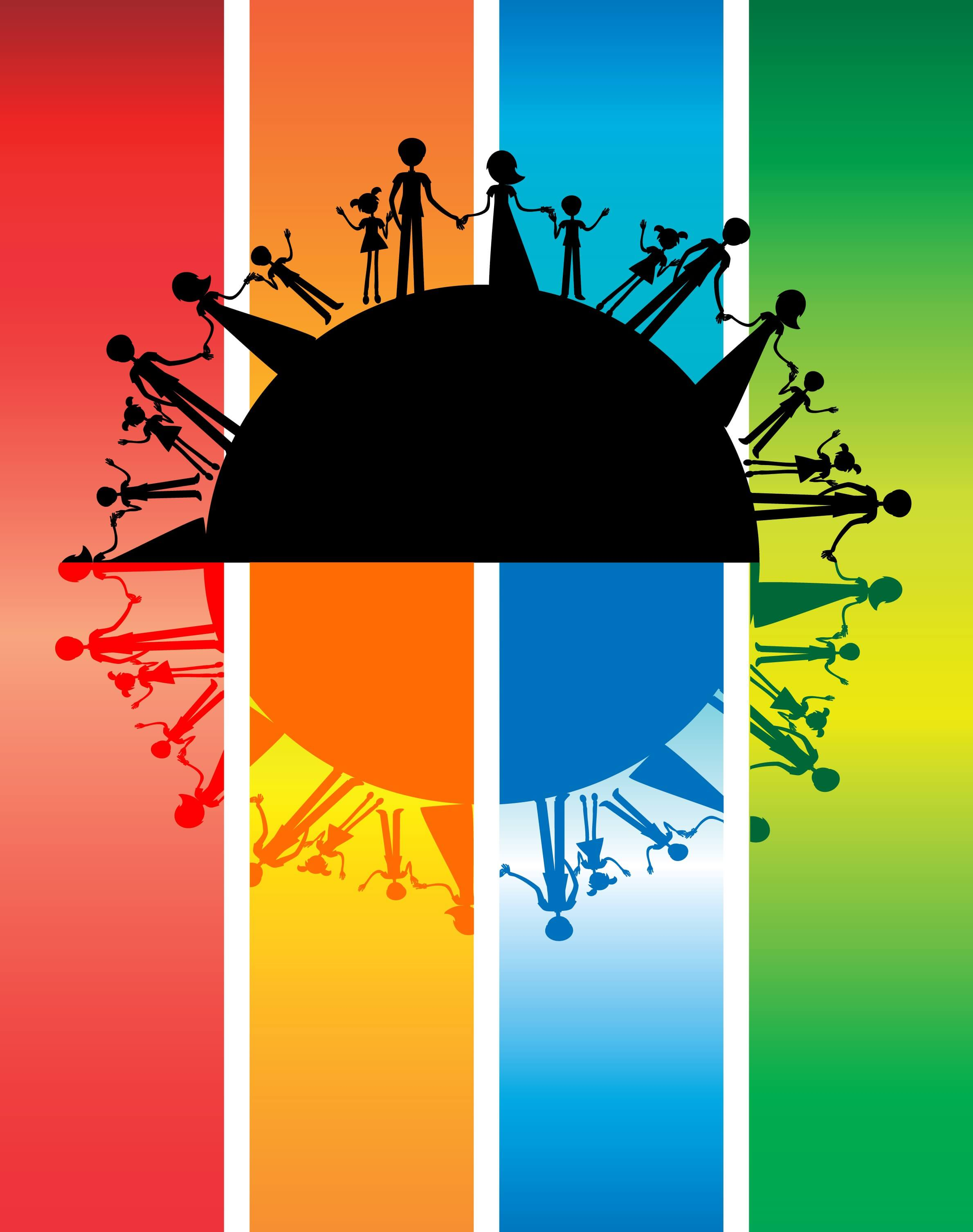 all families in the world silhouette international family day