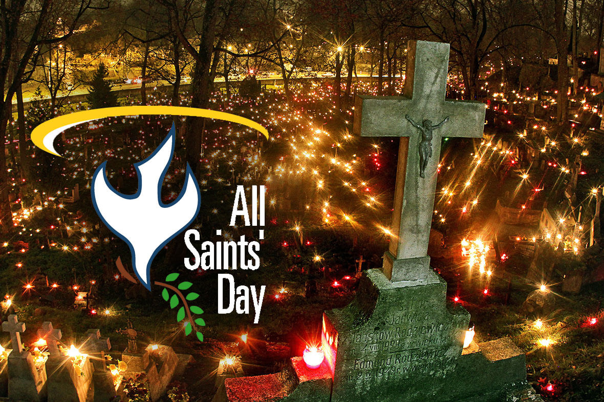 all saints day graveyard hd desktop wallpaper