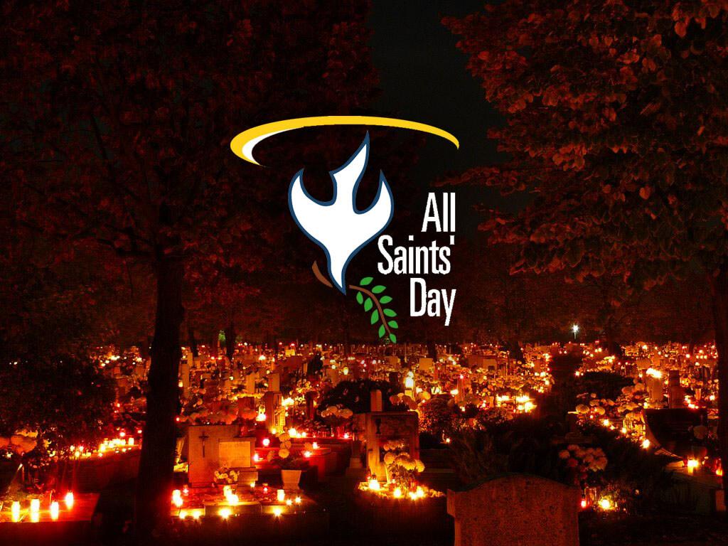 all saints day souls at graveyard hd image