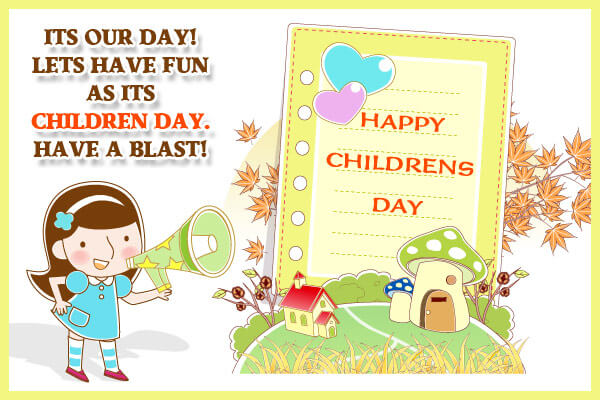 childrens day fun blast whats app image