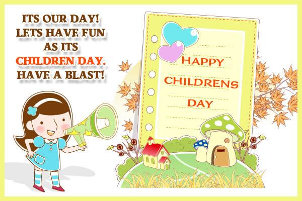 childrens day fun blast whats app image
