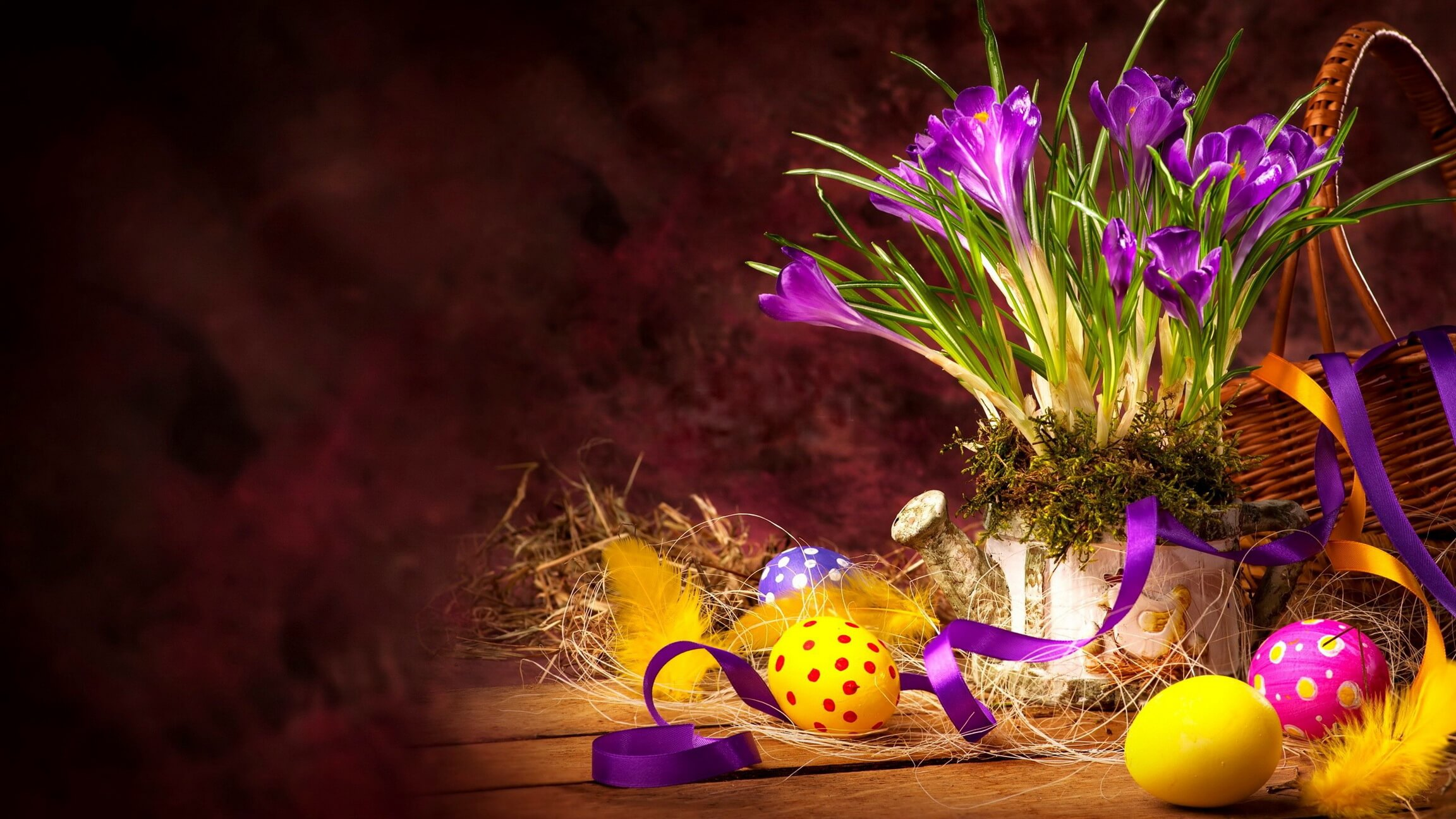 easter bouquet eggs wallpaper hd greetings