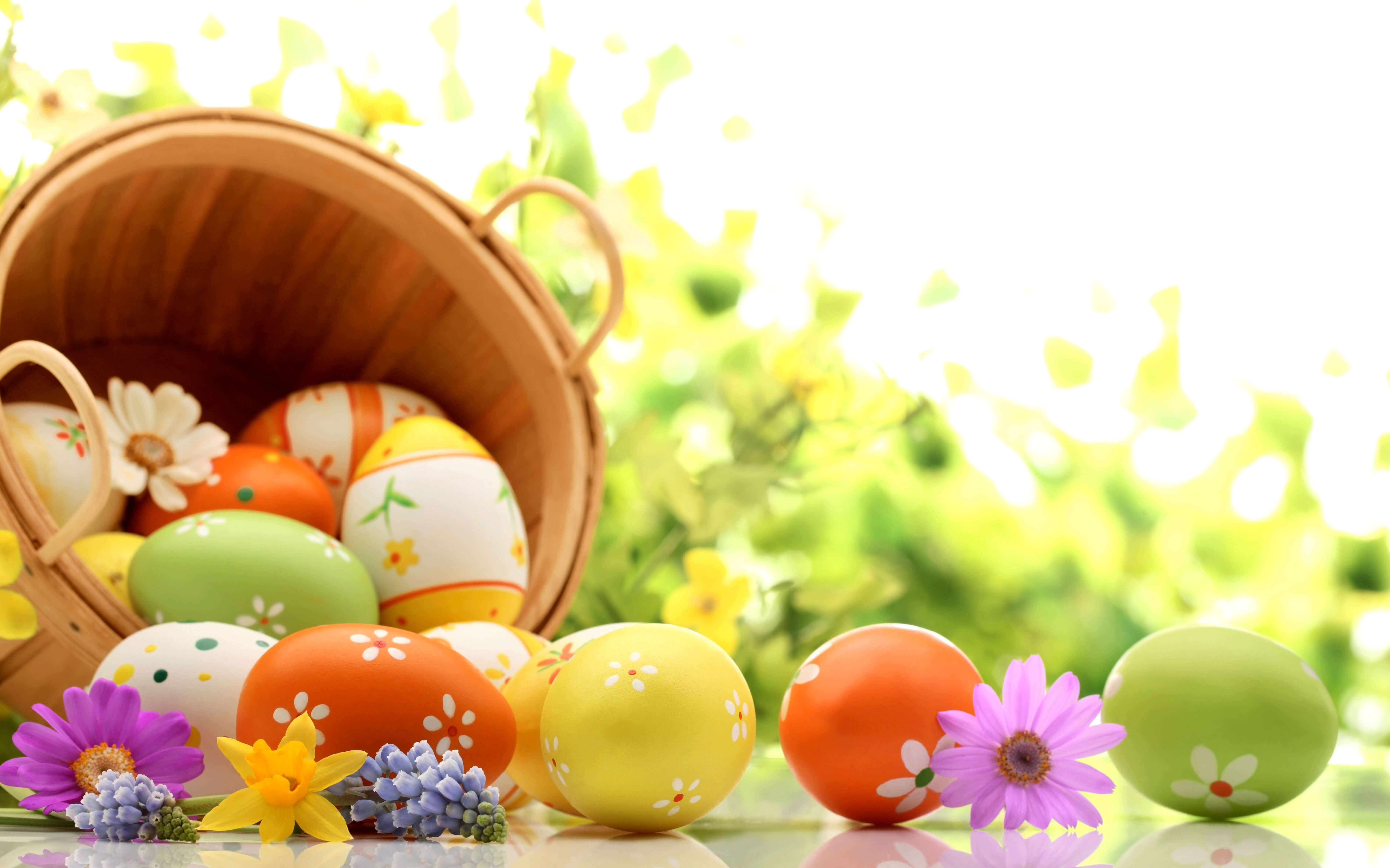 easter eggs background designs wallpaper