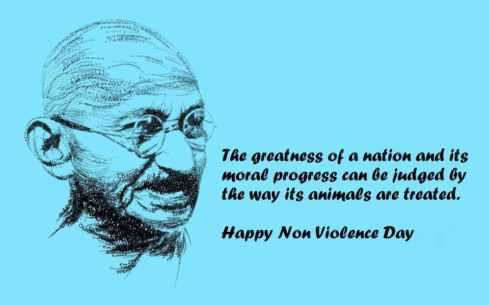 gandhi jayanti non violence day wallpaper