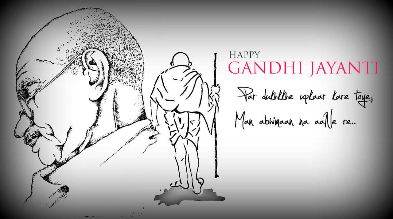 gandhi jayanti october 2 graphics art hd wallpaper