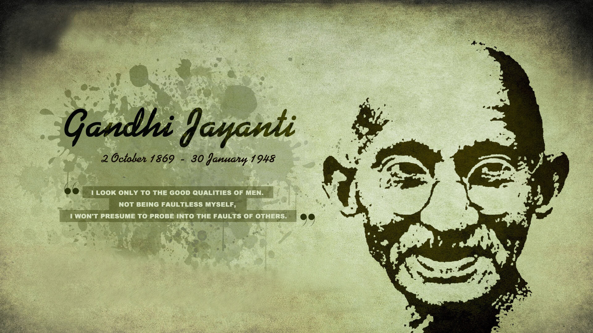 gandhi jayanti october 2 modern wallpaper