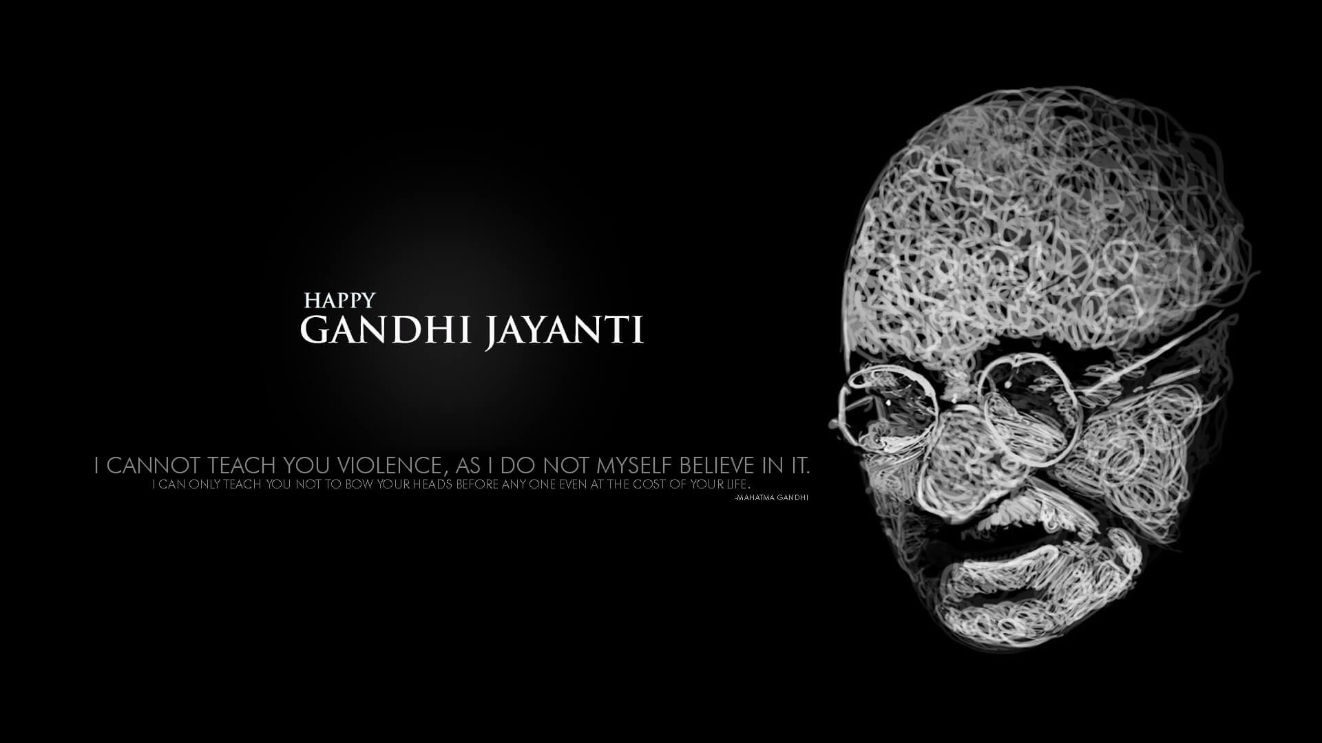 gandhi jayanti october 2 non violence quotes hd pc wallpaper