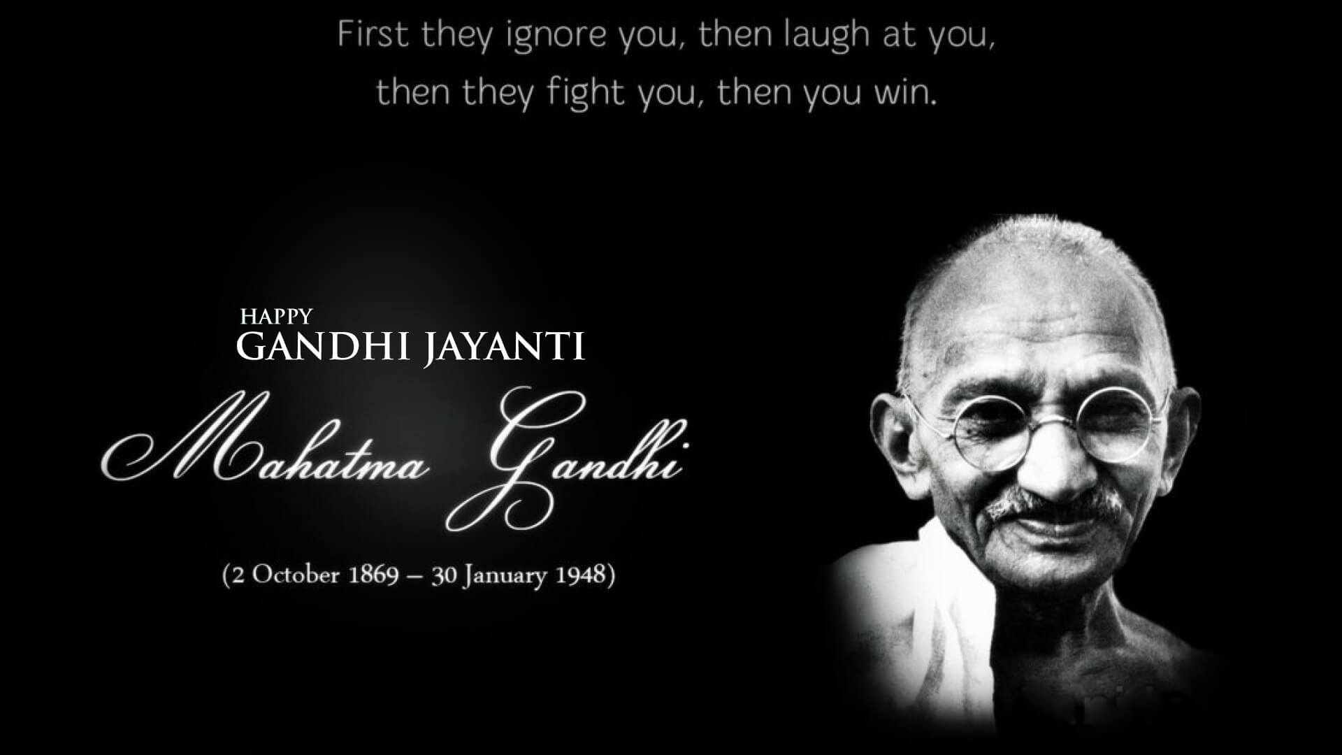 gandhi jayanti october 2 success quotes hd wallpaper