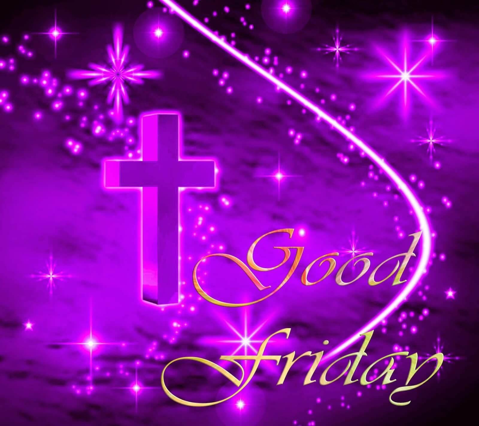 Good Friday Purple Cross Wallpaper Desktop Hd