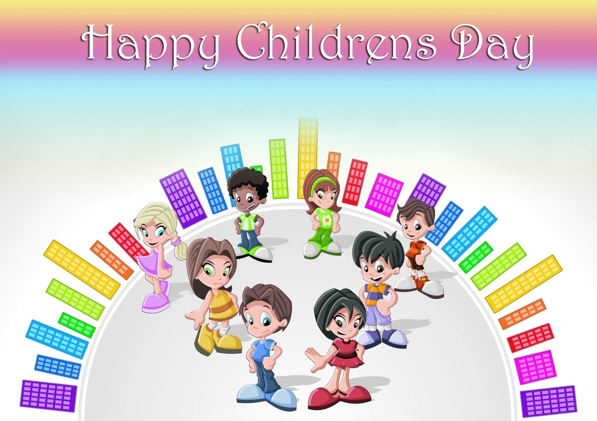 happy childrens day animated cartoon kids wallpaper